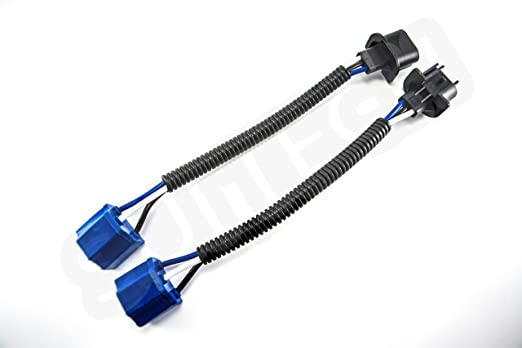 716hWAhs65L._SX522_ amazon com h13 to h4 adapter (pair) headlight conversion cable Wiring Harness Jeep TJ Grill at aneh.co
