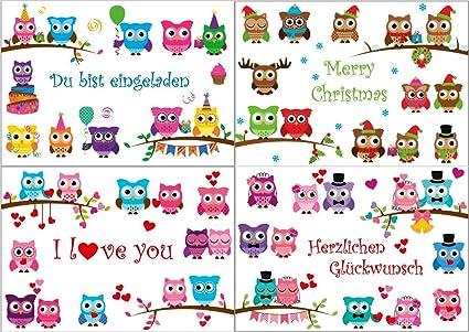 Auguri Anniversario Matrimonio Simpatici.Gufi Divertenti Cartoncini Di Auguri Per Compleanno Anniversario