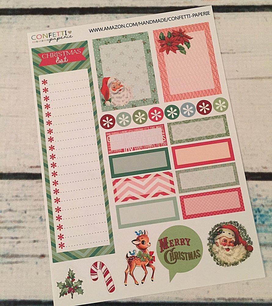 Amazon.com: Christmas Planner Stickers, Vintage Christmas ...