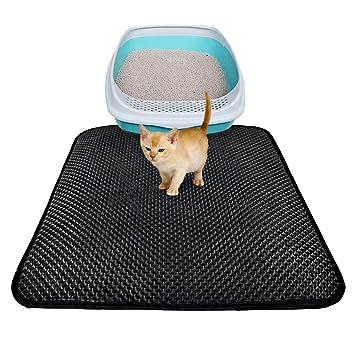 forwei Lai gato inodoro Alfombrilla para gatos Esterilla Para Gato dispersa Cajas impermeable gato WC Matte gato dispersa Matte duraderas antideslizante de: ...