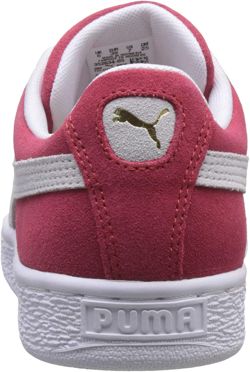 Puma - Suede Classic+ Baskets Mode Mixte Adulte Rouge Team Regal Red White