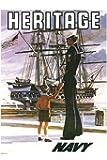 US Navy Vintage Poster - Heritage (12x18 Art Print, Wall Decor Travel Poster)