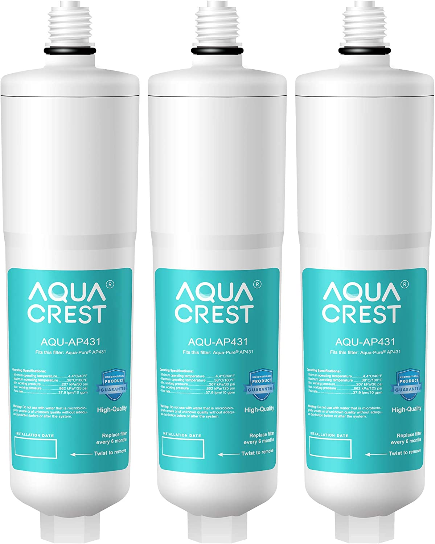 Replacement for Aqua Pure AP431 Scale Inhibition Water Filter Aquacrest AP431