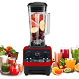 HANMEIUS Blender Multi Speed Electric Commercial Power Blender High Professional Performance Processor Mixer Nutrition Blender for Ice, Smoothies, Vegetables(Red)
