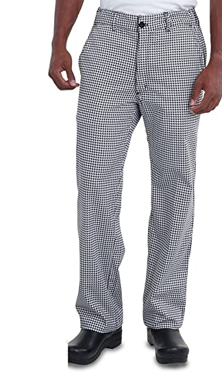 034a210b8f Superb Uniforms & Workwear Black and White Houndstooth Men Chef Pant ...