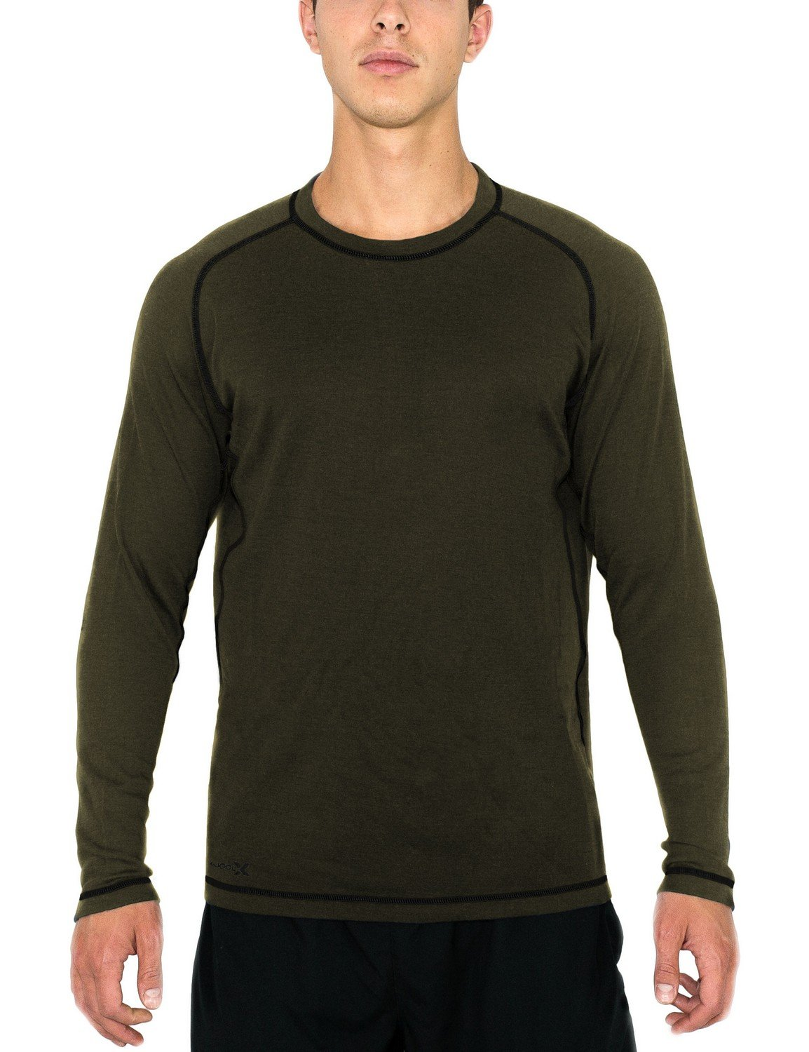 Woolx Men's Merino Wool Shirt - Midweight Base Layer Top - Warmth Without Bulk X506