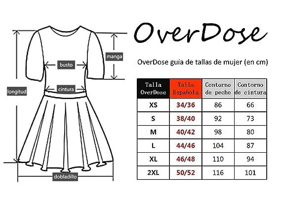 5ddbfb643 OverDose Vestidos Mujer Fiesta Elegante Vestido de Fiesta de Boda de Encaje  de Malla  Amazon.es  Ropa y accesorios