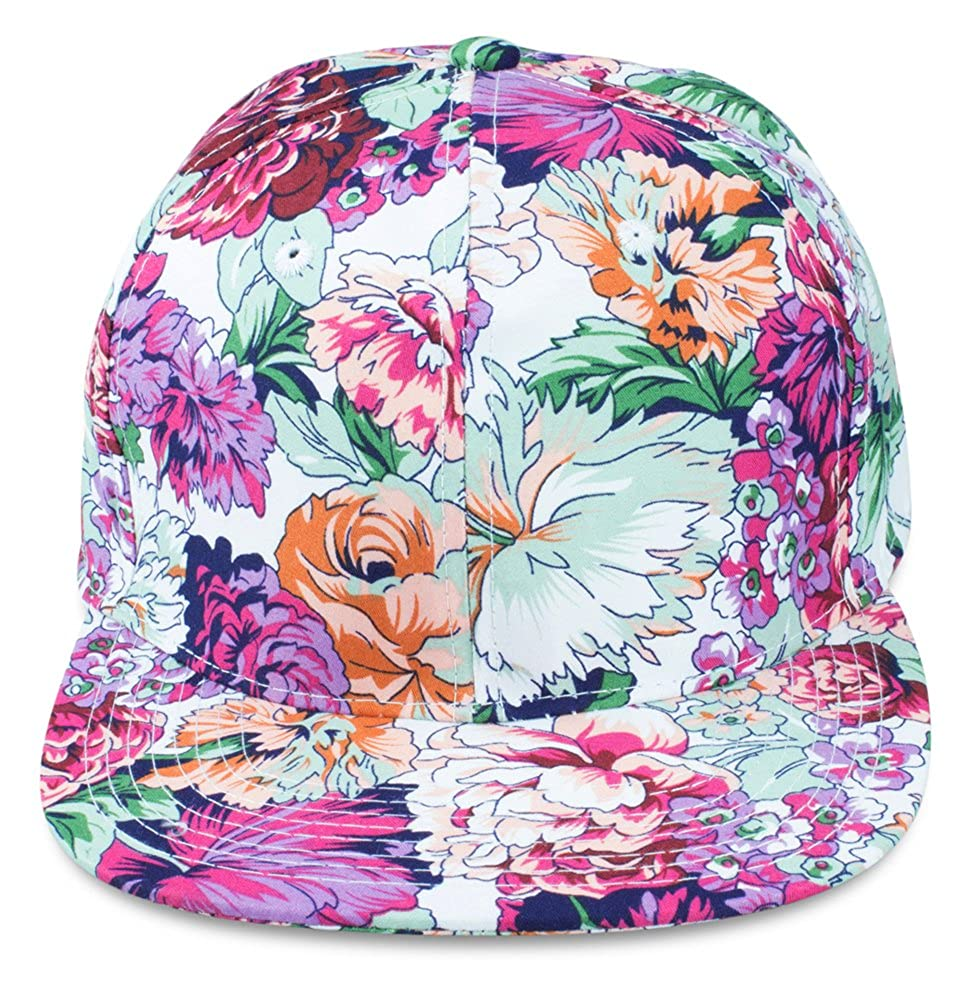 gro/ßer Schirm Snapback Cap im Blumen Design Sense42 gr/ö/ßemverstellbar f/ür Damen und Herren Unisex All-Over-Print One Size