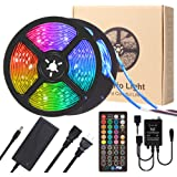 LED Strip Lights, YORMICK 32.8FT/10M 300 LED Light Strip with Music Sync Modes, RGB Color Changing IP65 Waterproof SMD 5050 w