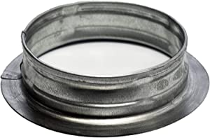 """Vent Systems 8"""" inch Air Vent Duct Connector Flange Straight Ventilation Pipe Metal Ducting Connector Plate for Cooling Heating Ventilation System HVAC 8"""" inch"""