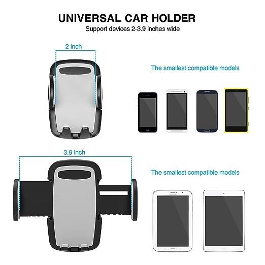 BrainWizz Soporte de teléfono para automóvil Auto Universal: Amazon.es: Electrónica