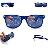 Australia Flag Sunglasses for Australia Day, Cricket, Tennis, Aussie. Perfect for Australian Costumes and as part of Australia day clothing. These shades are sure to show your patriotic support