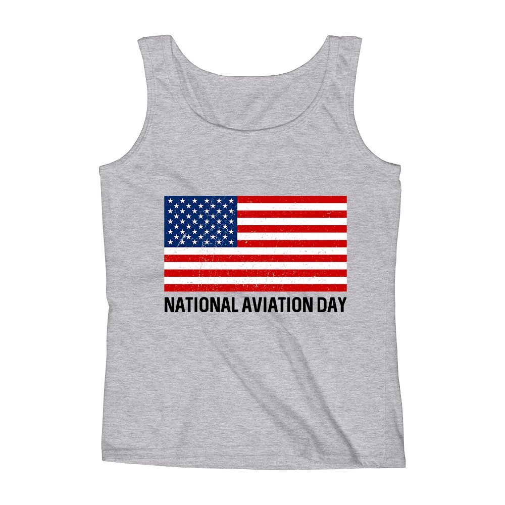 Mad Over Shirts National Aviation Day Unisex Premium Tank Top