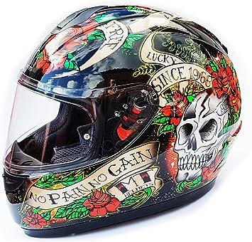 Amazon.es: casco moto calavera Cascos Ropa y accesorios