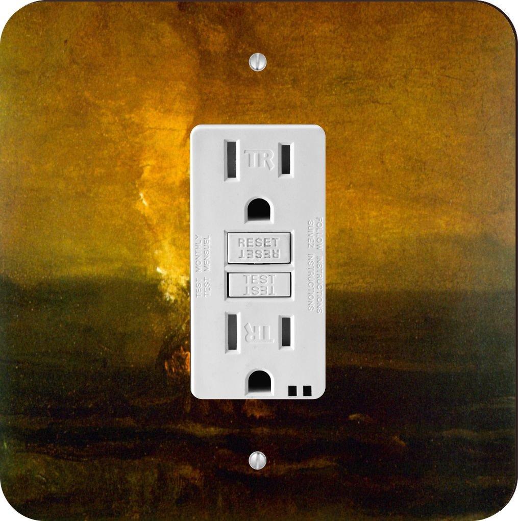 Rikki Knight 1367 Van Gogh Art Burning Weeds Design Light Switch Plate