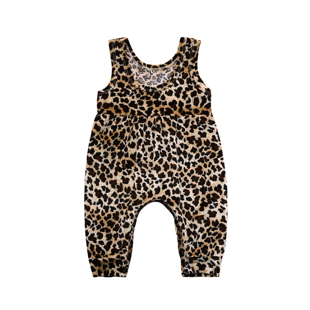Clearance!!! Hevoiok Newborn Infant Toddler Baby Girls Romper Cute Fashion Leopard Print O Neckc Sleeveless Vest Jumpsuit