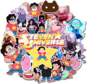 Steven Universe Stickers (50 PCS) Funny Stickers for Teens, Girls, Adults,Kids - Stickers for Waterbottles,Laptop,Phone,Hydro Flask - Waterproof Vinyl Sticker (Steven Universe)