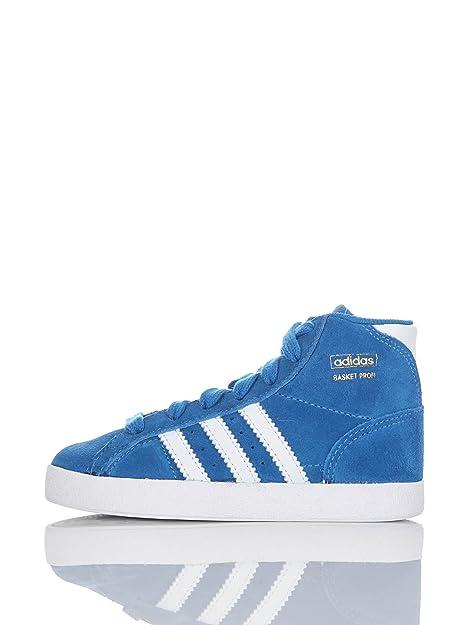 adidas Zapatillas Abotinadas Basket Profi I Azul/Blanco EU 21: Amazon.es: Zapatos y complementos