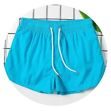 307ec45095 Amazon.com: No Buy No Bye Mens Swimming Shorts for Men Swimwear Swimming  Trunks Beach Bathing Shorts Quick Dry High Cut Boardshorts: Clothing