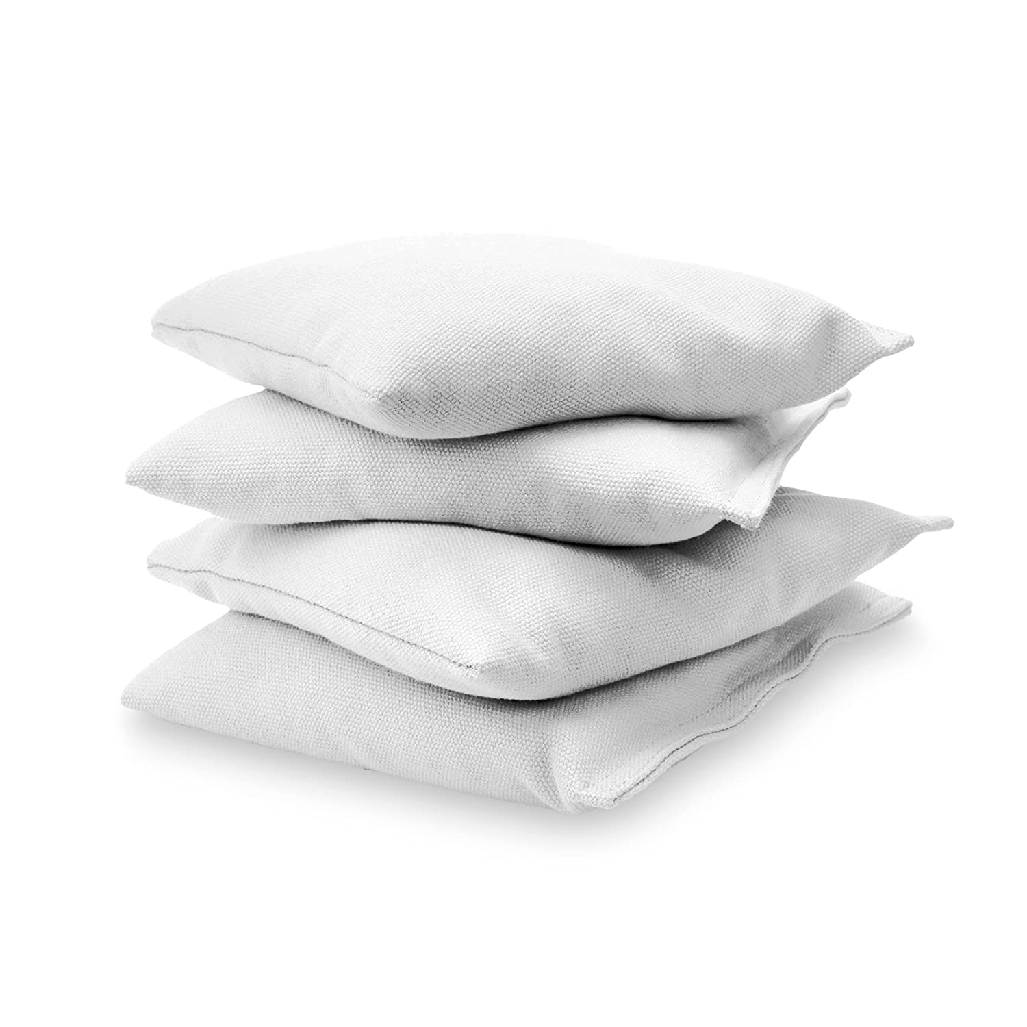 GoSports Premium Bean Bag (4 Set), White CH-BAGS-4-White
