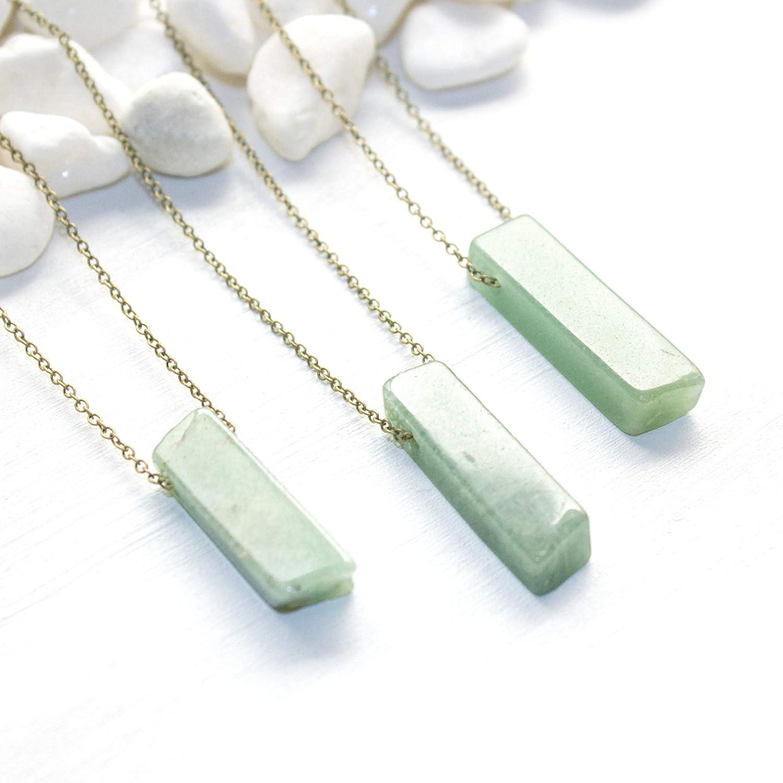 Natural Stone Green Aventurine. Healing Crystal Boho Necklace Pendant Green Aventurine Necklace