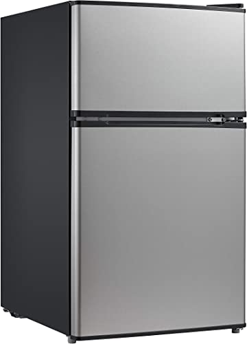 Amazon Com Midea 3 1 Cu Ft Compact Refrigerator Whd 113fss1 Stainless Steel Appliances