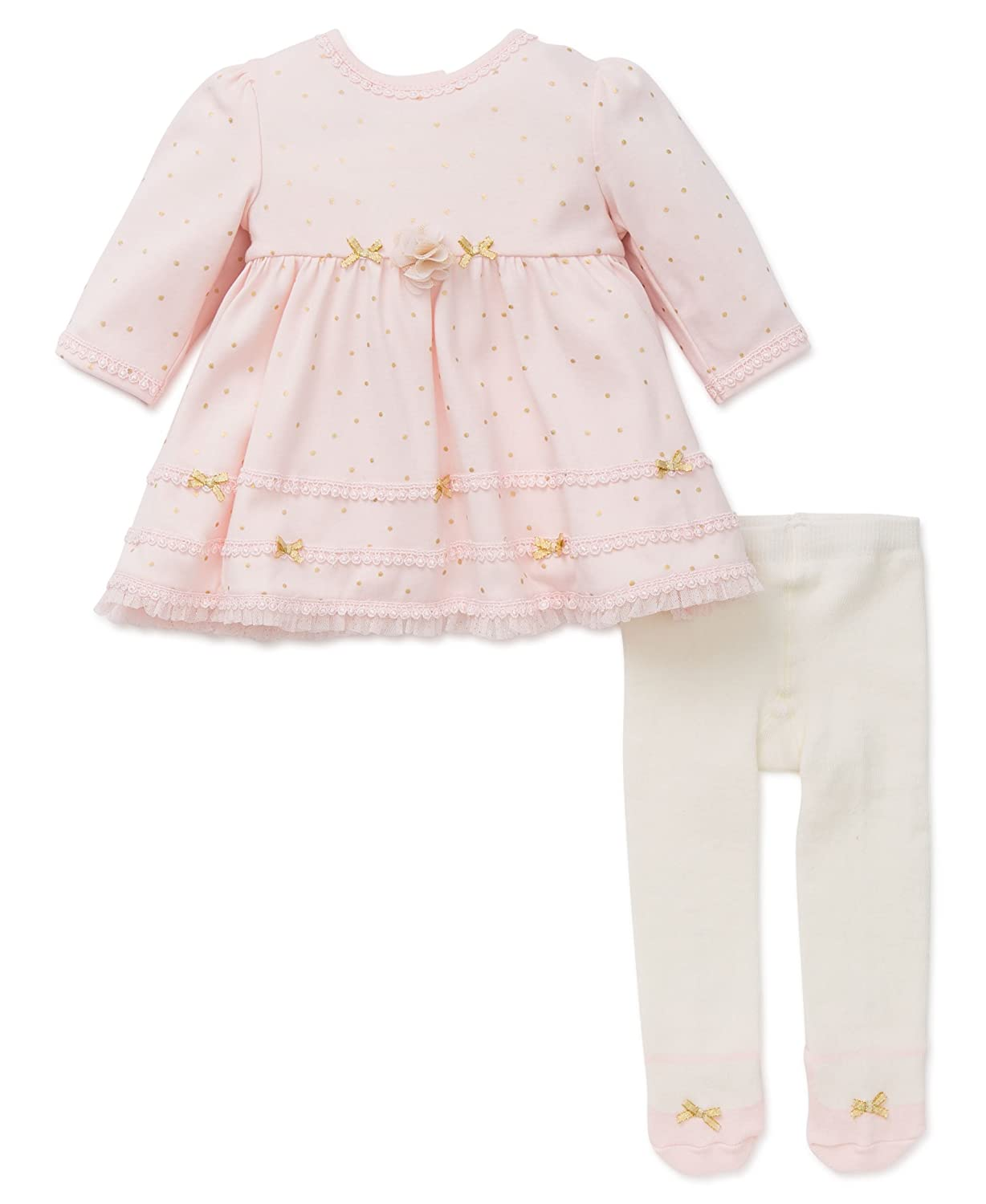 Little Me Baby Girls Dress with Tights