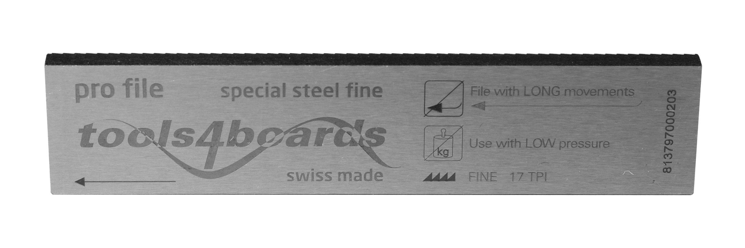 Tools4Boards Pro File Fine Cut Special Steel Race Ski and Snowboard File (4-Inch/100mm) by Tools4Boards