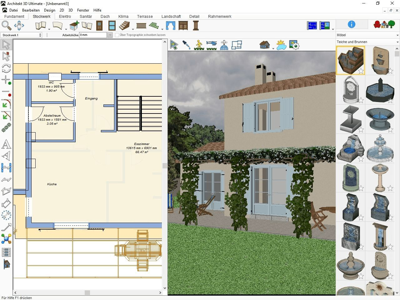Architekt 3D X9 Ultimate   Der Professionelle 3D Planer Für Haus, Wohnung,  Garten Und Inneneinrichtung! Windows 10, 8, 7, XP, Vista (32 /64 Bit)  [Download]: ...