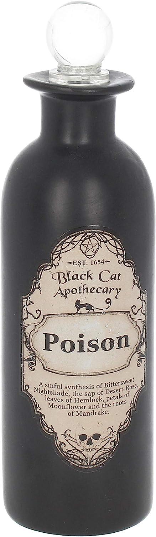 Nemesis Now Poison Potion Bottle 20cm Black