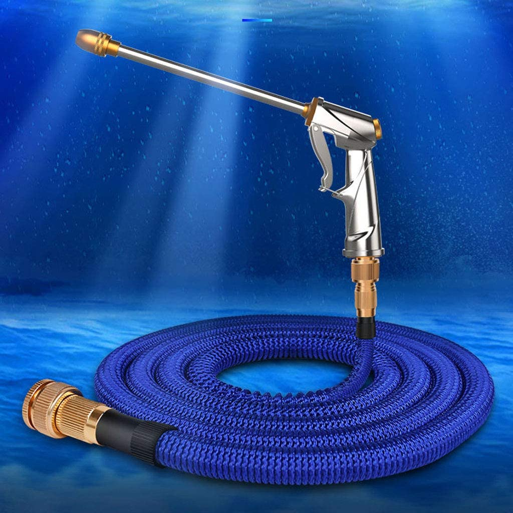 WE-WHLL Wearable Garden Watering Hose 3 Times Expandable High Pressure Wash Water Hose 3