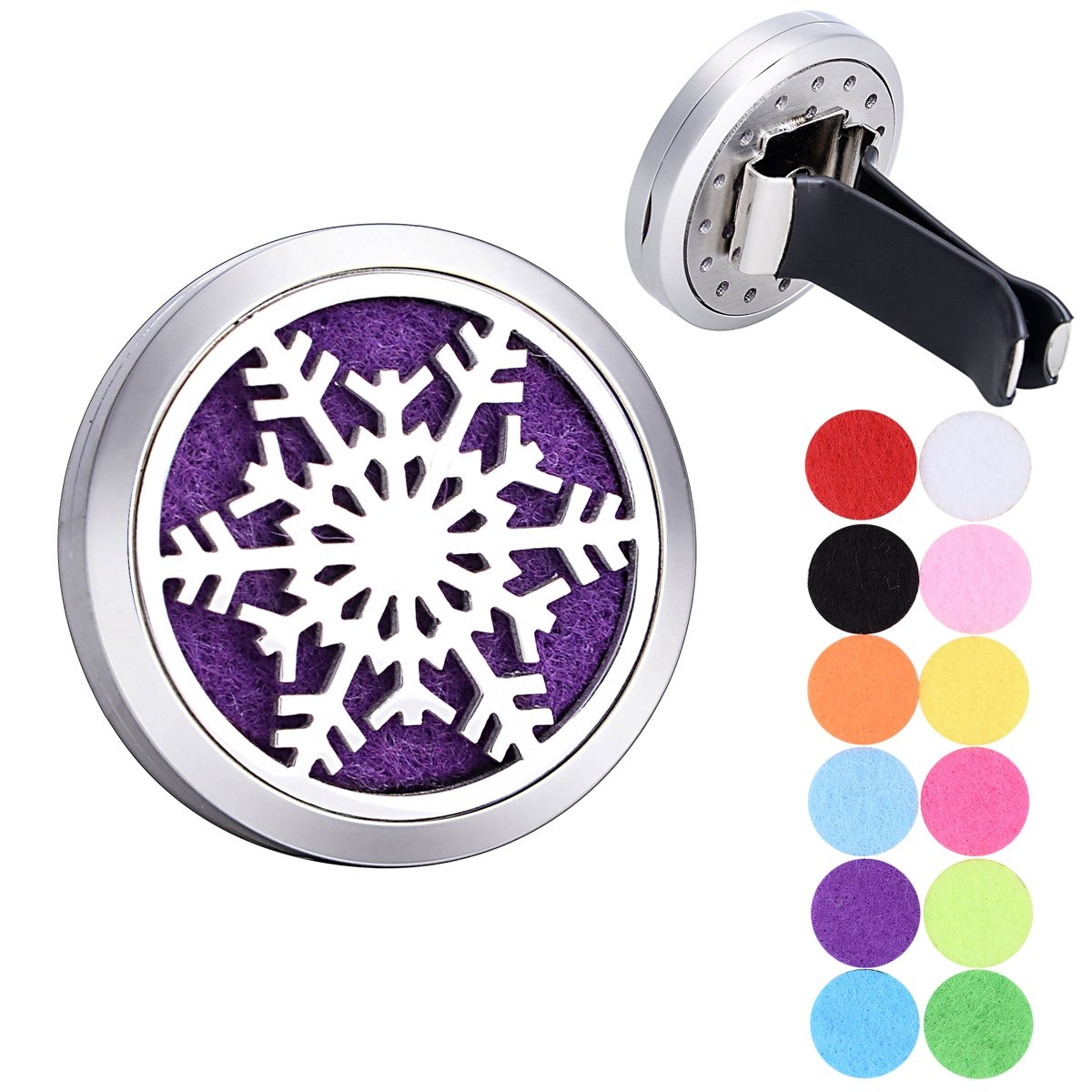 Snowflake Car Air Freshener Aromatherapy Essential Oil Diffuser Locket Supreme glory