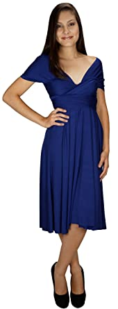 6d7207a566 Wrap Magic Women's Convertible Infinity Dress Navy Blue at Amazon ...