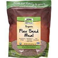 Now Foods Real Food, Certified Organic, Golden Flax Seed Meal, 624g