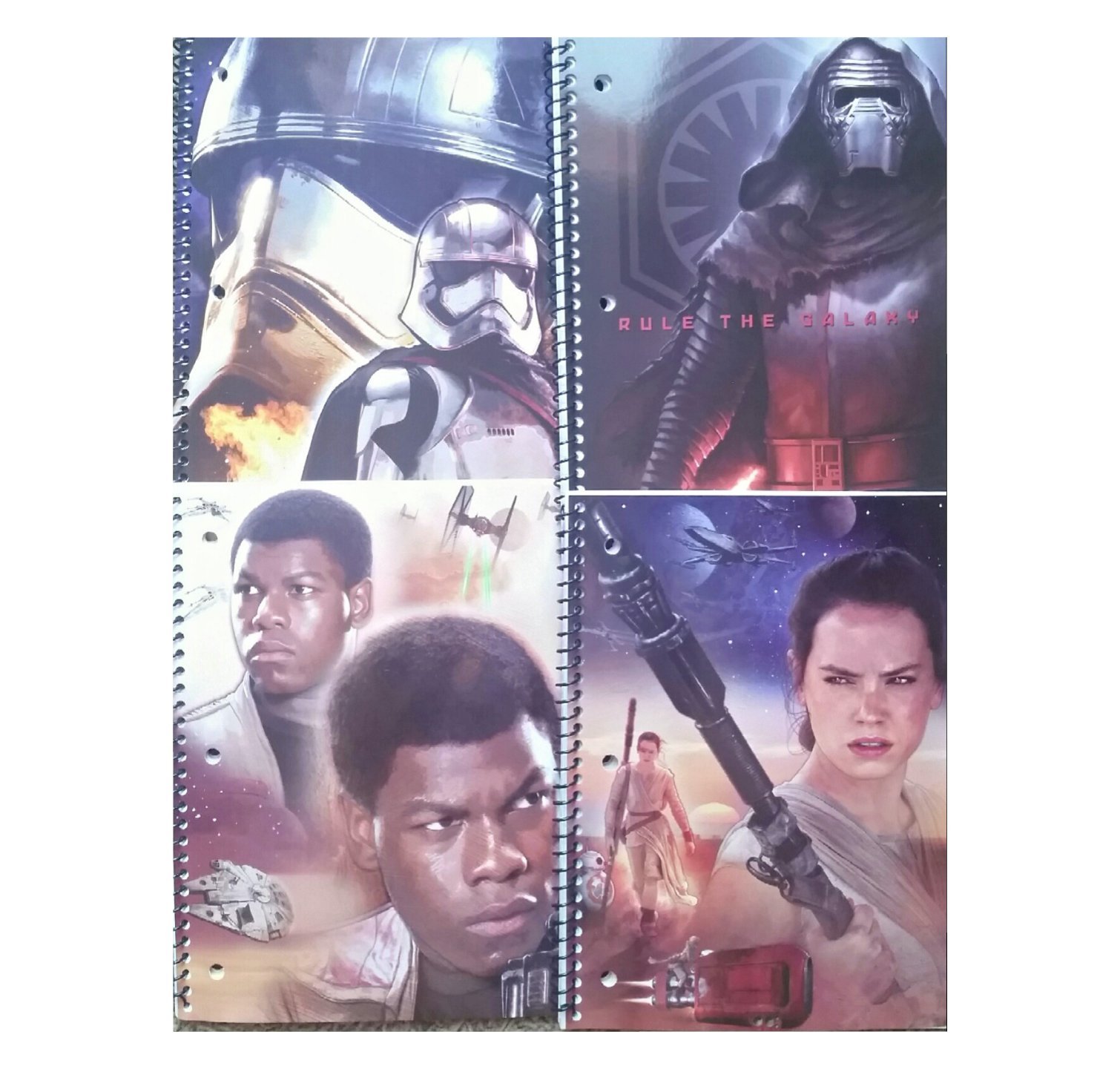 Star Wars 1-Subject Spiral Notebooks, Wide Rule 4 Pack
