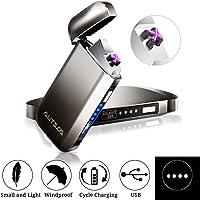 AUTSCA Mechero Eléctrico, Encendedor USB Doble Arco Eléctrico