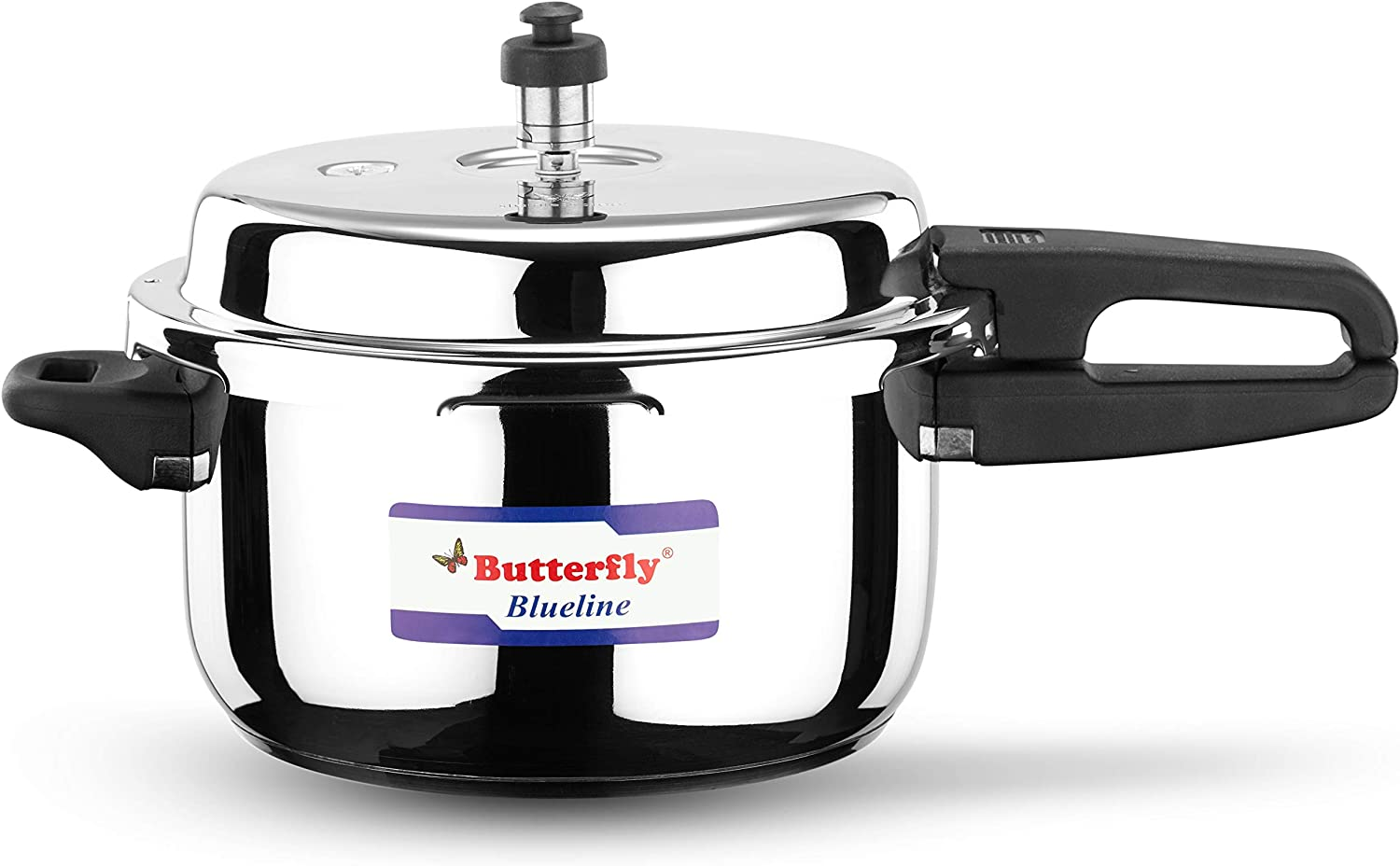 Butterfly Blue Line Stainless Steel Pressure Cooker, 5-Liter