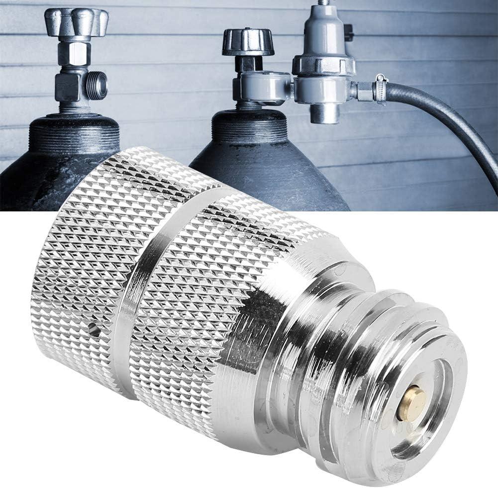 Ersatzzubeh/ör f/ür CO2-Zylinder-Nachf/ülladapter f/ür Soda Stream TR21-4 Au/ßengewinde zu G1//2 Typ 30 Innengewinde