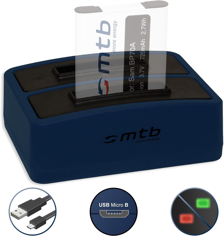 Double Chargeur PL91 PL100/… 2 Batteries Cable Micro USB Inclus liste! pour Samsung EA-BP70A PL21 ES70/… WB30/… PL80 USB PL90 PL81 PL20 v TL205/…
