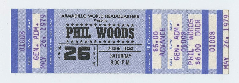 Phil Woods Ticket 1979 May 26 Armadillo World Headquarters Unused