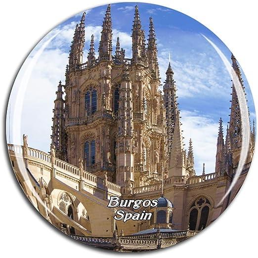 Weekino Catedral de Burgos de España Imán de Nevera 3D de Cristal de la Ciudad de Viaje Recuerdo Colección de Regalo Fuerte Etiqueta Engomada refrigerador: Amazon.es: Hogar