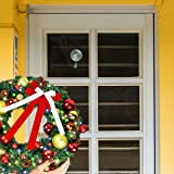 2PCS Wreath Hanger, Suction Cup Hooks with Key