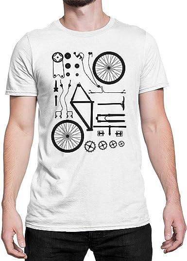 Divertidos de la Bici MTB de despiece de la Camiseta de los ...