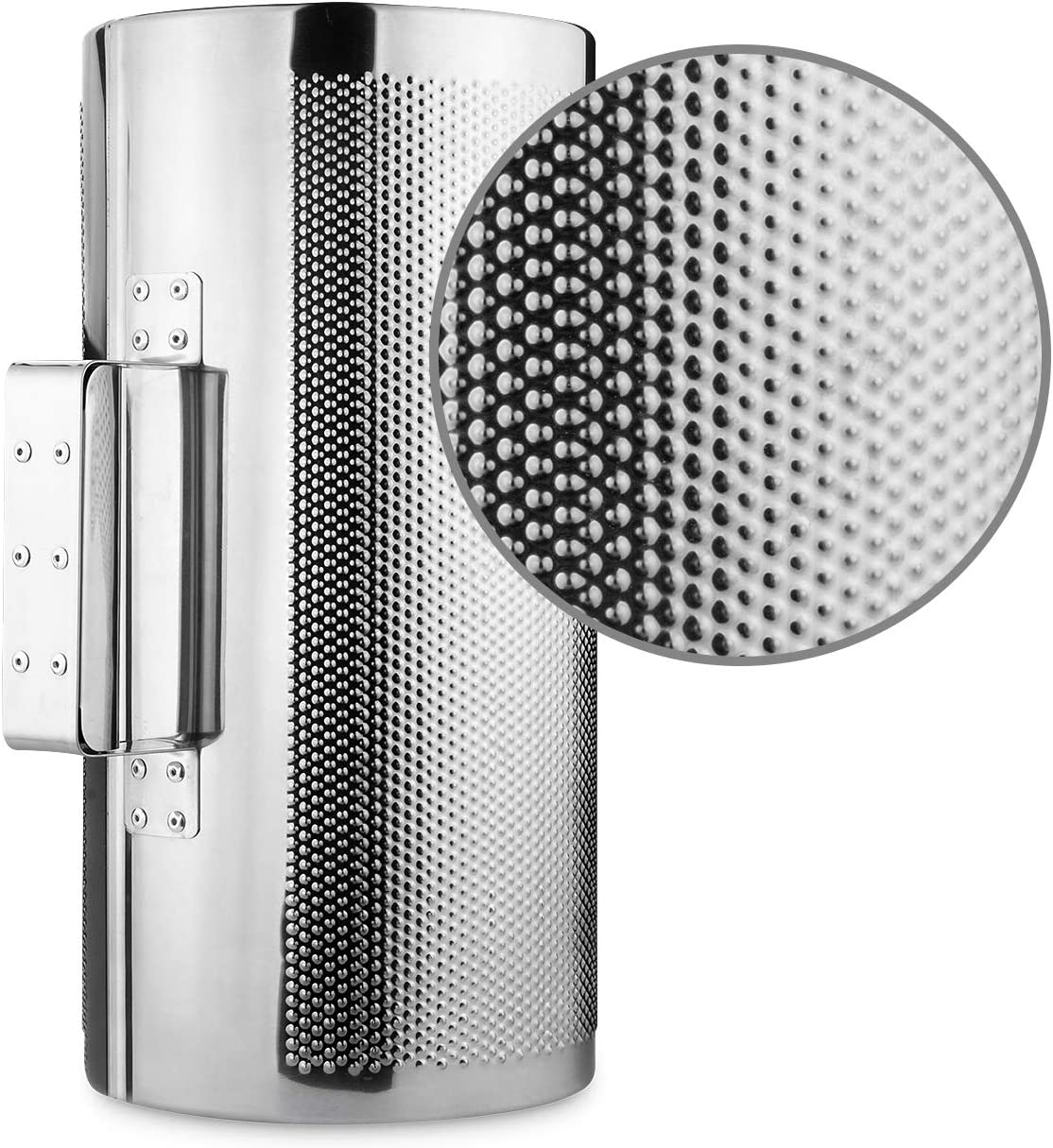 Abuff 12 x 6 Stainless Steel Guiro Instrument with Scraper Latin Percussion Instrument Musical Training Tool Metal Guiro Shaker