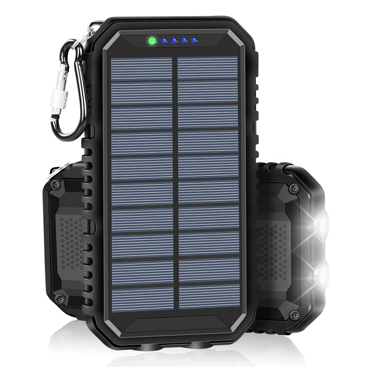 Solar Charger 15000mAh Portable Power Bank with 2.4A Outputs Weatherproof for iPhone, ipad, Samsung, Smart Phones and Outdoor Camping by SOARAISE