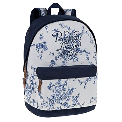 Pepe Jeans Shala Mochila Escolar, 22.85 litros, Color Blanco: Amazon ...