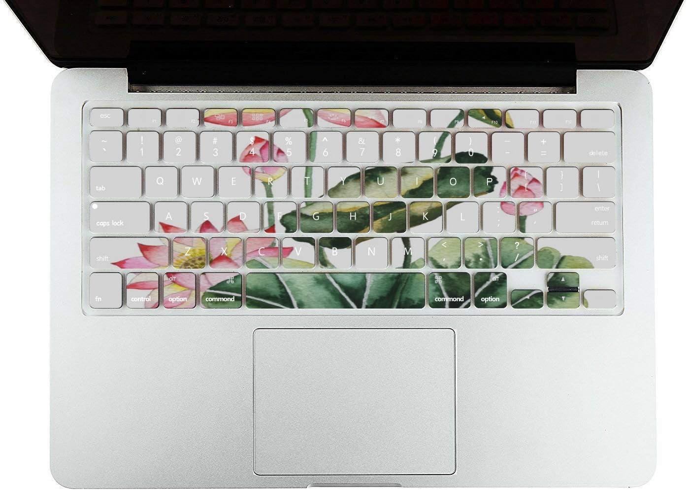 MacBook Pro 2015 Case Summer Hangzhou Western Lake Lotus Plastic Hard Shell Compatible Mac Air 11 Pro 13 15 2018 MacBook Pro Case Protection for MacBook 2016-2019 Version