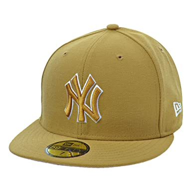 de7bb731118e2a New Era New York Yankees 59Fifty Men's Fitted Hat Cap Wheat/White 80337989  (Size