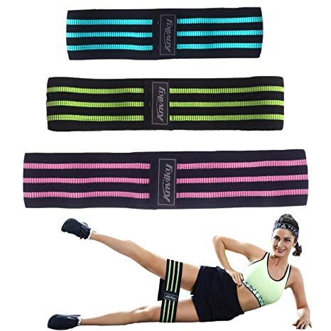 3cf4411a1520a WOOSL Booty Bands - Fabric Resistance Bands for Leg and Butt,Exercise Bands  Hip Bands Wide Workout Bands Hip Resistance Bands Anti Slip Circle Fitness  Band ...
