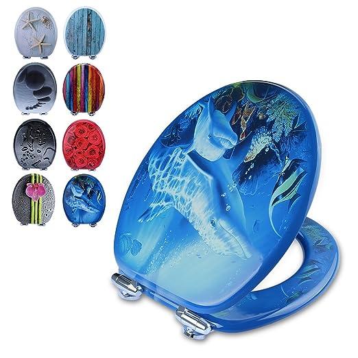 4 opinioni per PUMICE® Copriwater Sedile WC 3D da Legno Robusto e di alta Qualità,Riduttore